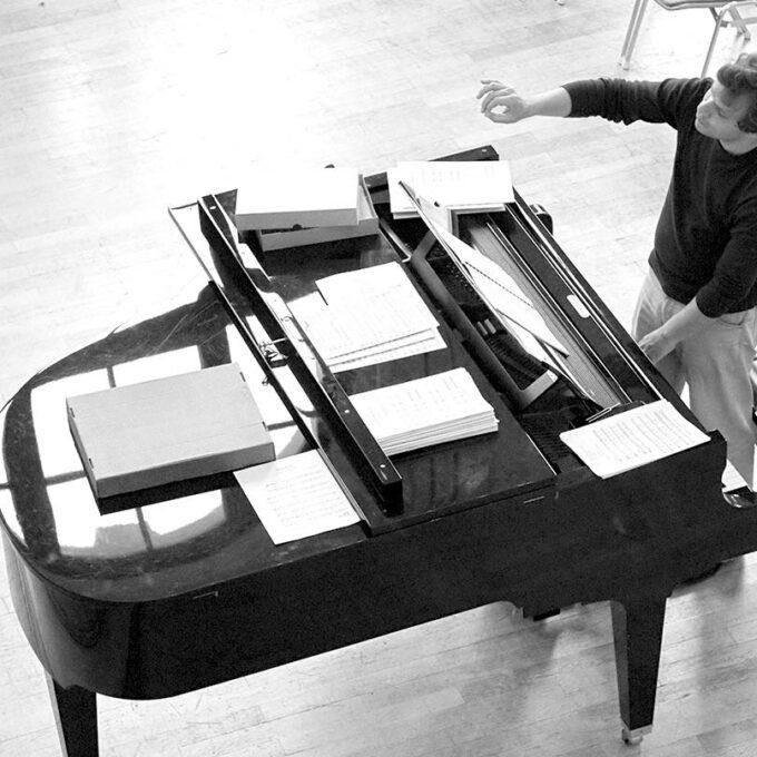Ensembleprobe Mit Philipp Amelung In Der Leipziger Petrischule