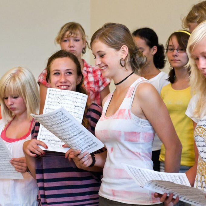Probe Des Mädchenchores In Der Petrischule Leipzig