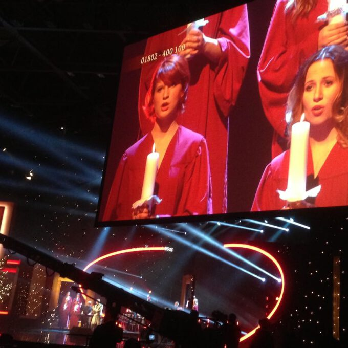 Mitglieder Des Mädchenchores Während Der Probe Zur José-Carreras-Gala