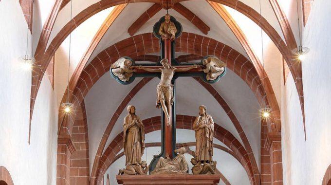 Innenansicht Der Klosterkirche Wechselburg Mit Lettner
