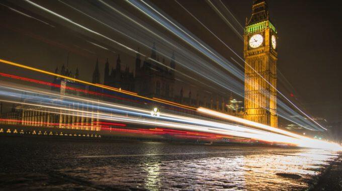 Big Ben Und Westminster Bei Nacht