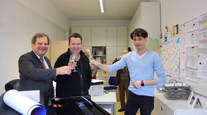 Eröffnung Des Chorbüros Durch Prof. Fabian, Sebastian Krumbiegel Und Marcus Friedrich