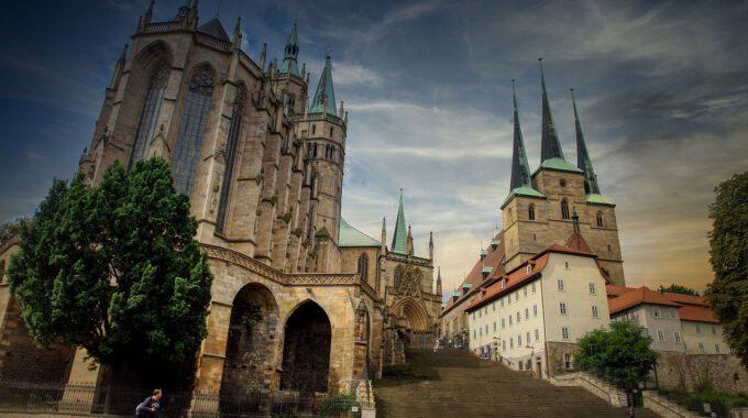 Erfurt Mit Dom Und St. Severi