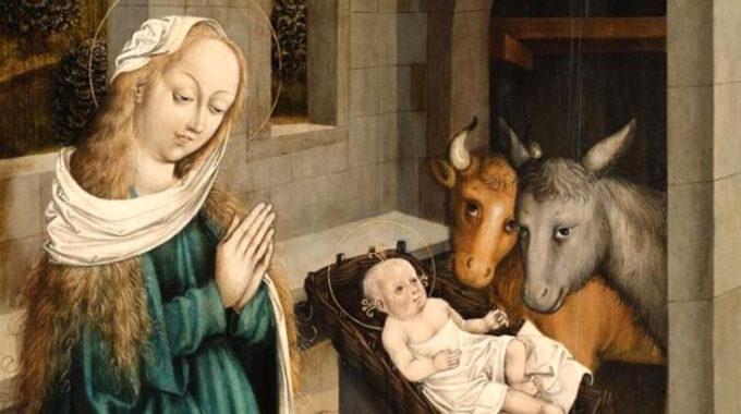 Mittelalterliche Darstellung Der Geburt Christi