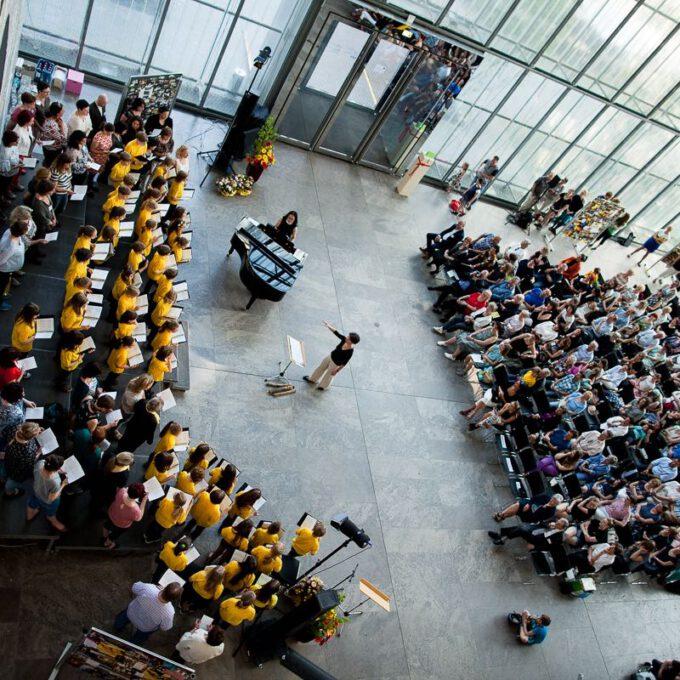 Auftritt Des Kinderchores Im Rahmen Des 55. Jubiläums Der Schola Cantorum Leipzig