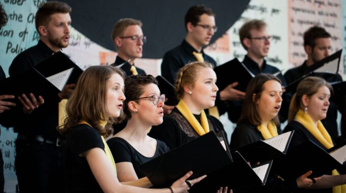 Auftritt Des Kammerchores Im Rahmen Des 55. Jubiläums Der Schola Cantorum Leipzig