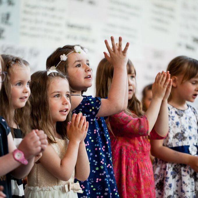 Auftritt Der Vorschulchöre Im Rahmen Des 55. Jubiläums Der Schola Cantorum Leipzig