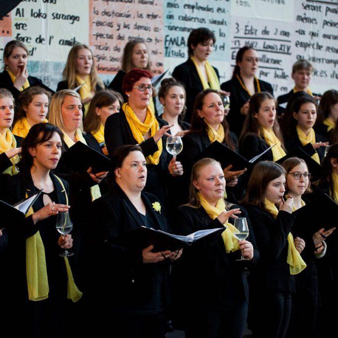 Auftritt Des Mädchen- Und Frauenchores Im Rahmen Des 55. Jubiläums Der Schola Cantorum Leipzig