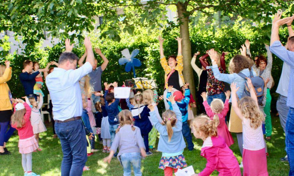 Semesterabschluss Der Musikalischen Früherziehung Am 21. Juni 2018 Im Garten Des Mendelssohn-Hauses Leipzig