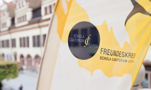 Freundeskreis-Beflaggung Vor Der Alten Handelsbörse Leipzig