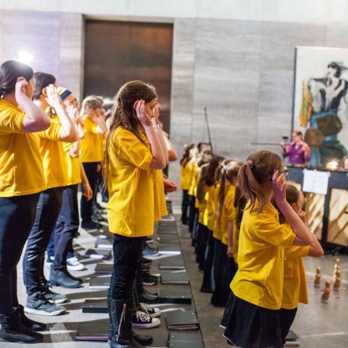 Generalprobe Und Frühlingskonzert Des Kinderchores Der Stadt Leipzig Im Museum Der Bildenden Künste Leipzig