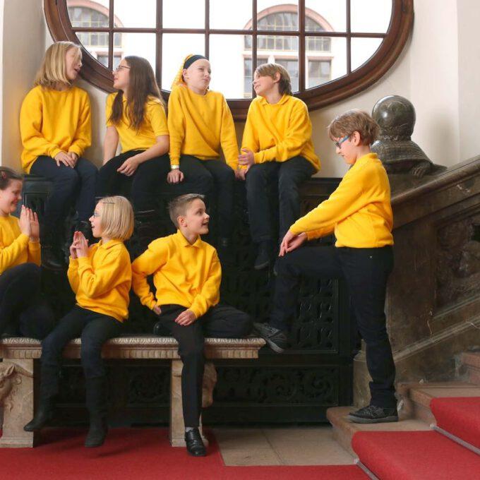 Mitglieder Des Kinderchores Schola Cantorum Im Neuen Rathaus Leipzig