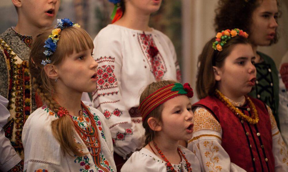 Mitglieder Des Unkrainischen Kinder- Und Jugendchores