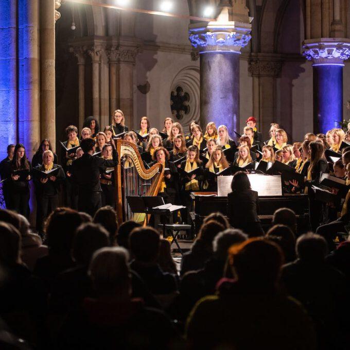 Traditionelles Weihnachtsliedersingen In Der Peterskirche Leipzig