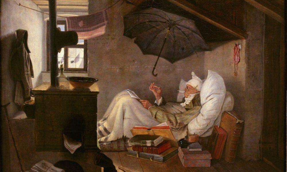 """Carls Spitzwegs Gemälde """"Der Arme Poet"""""""