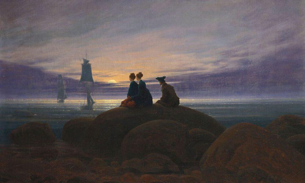 "Caspar David Friedrichs Gemälde ""Mondaufgang Am Meer"""