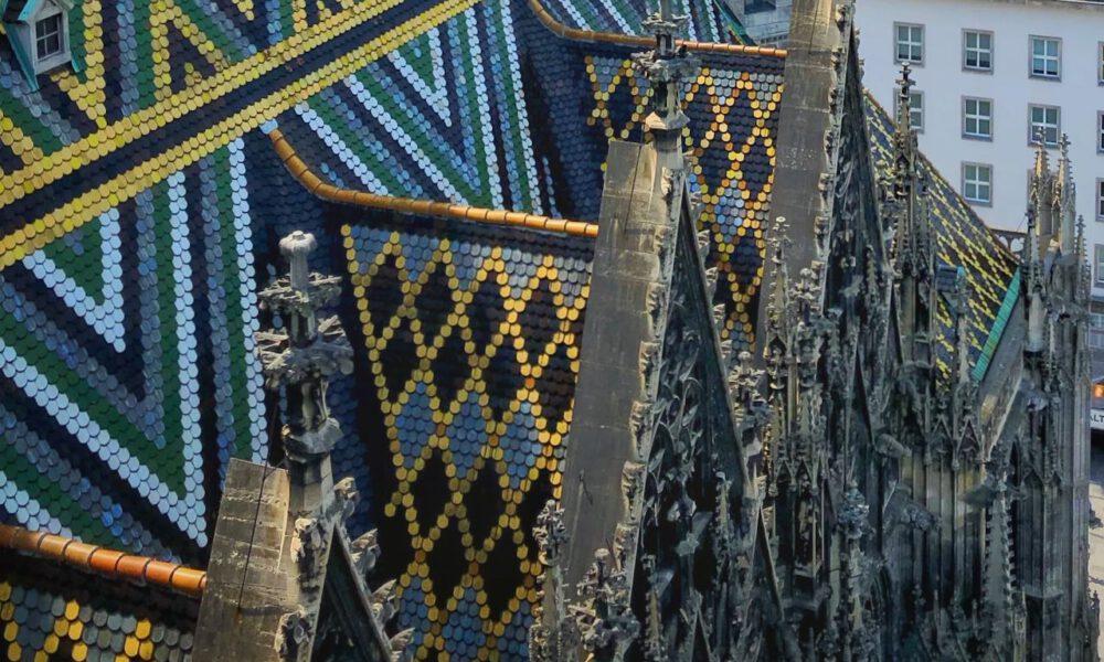 Dachschindeln Auf Dem Wiener Stephansdom