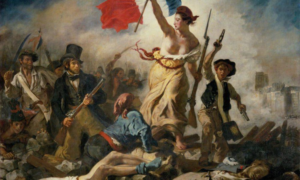 """Eugène Delacroixs Gemälde """"Die Freiheit Führt Das Volk"""""""