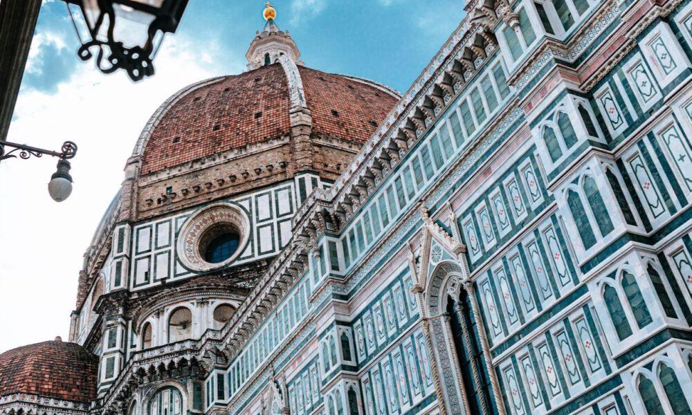 Farbenprächtige Fassade Des Florenzer Doms
