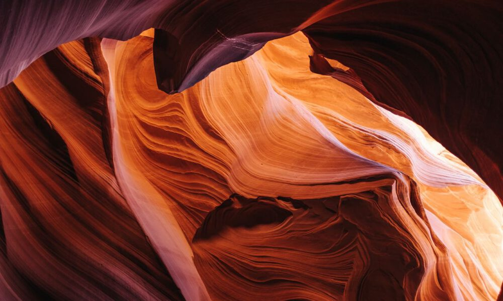 Abstrakte Felsformationen Im Antelope-Canyon