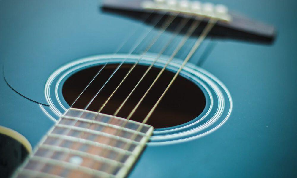 Detailaufnahme Einer Gitarre