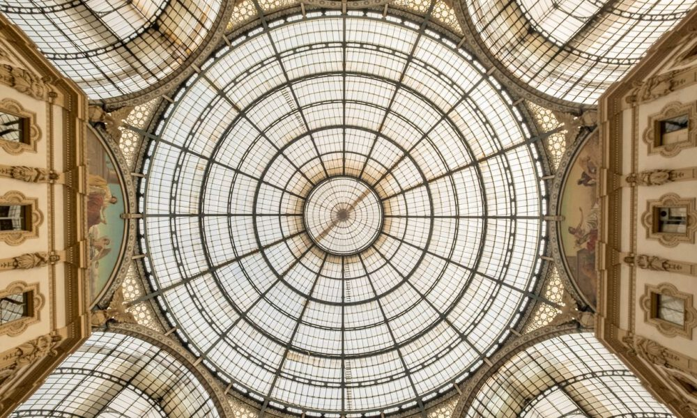 Glasdach Der Galleria Vittorio Emanuele In Mailand