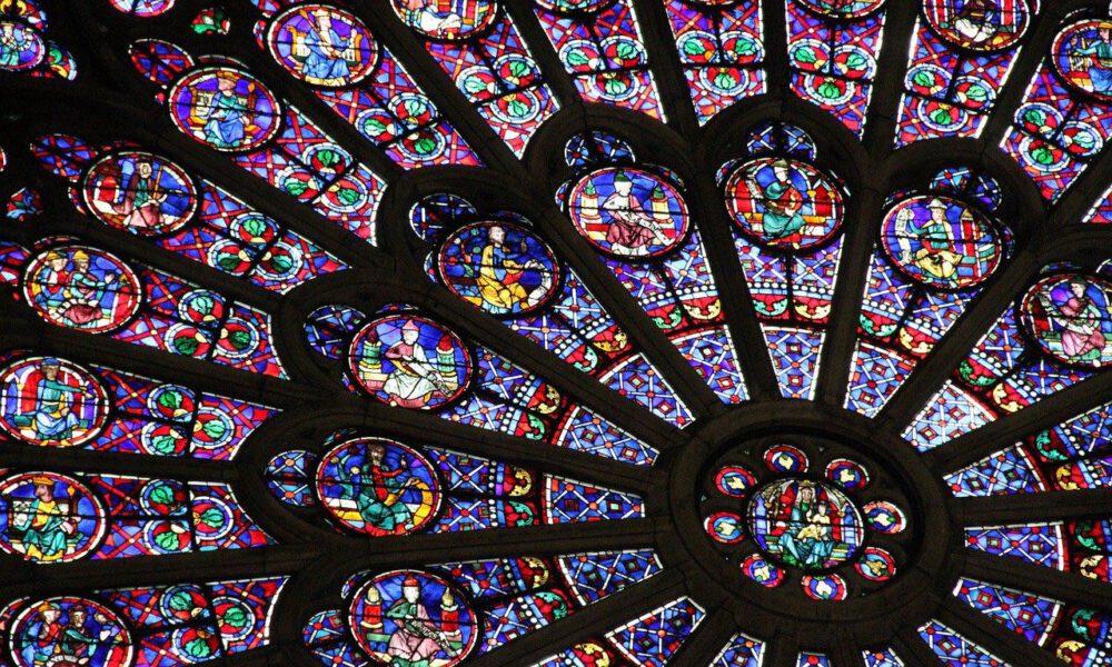 Innenansicht Der Fensterrose Von Notre-Dame De Paris