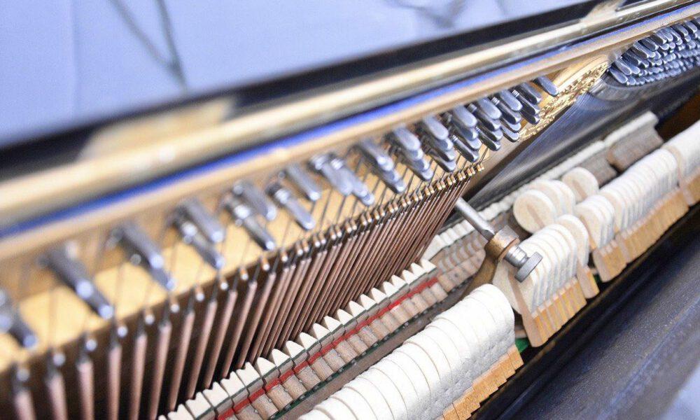 Blick Auf Die Mechanik Eines Klaviers