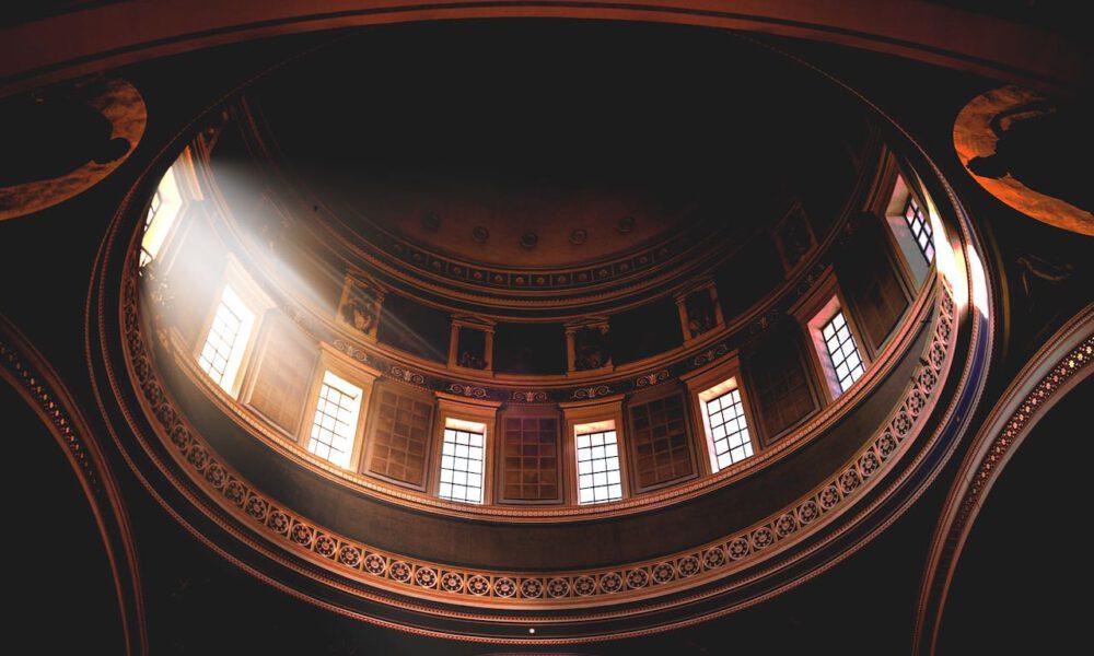 Licht Fällt In Die Kuppel Der Nikolaikirche Potsdam