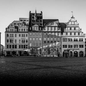 Leipzig Während Des Pandemiebedingten Lockdowns Im Frühjahr 2020