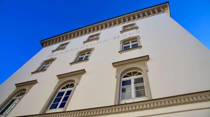 Fassade Des Mendelssohn-Hauses In Leipzig