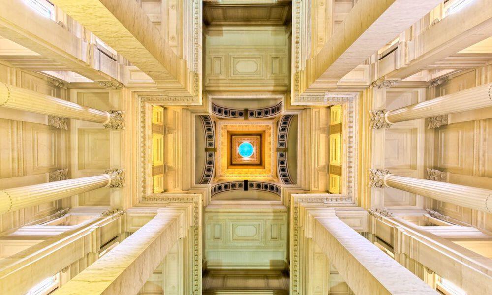 Monumentale Architektur Im Palais Justice Brüssel