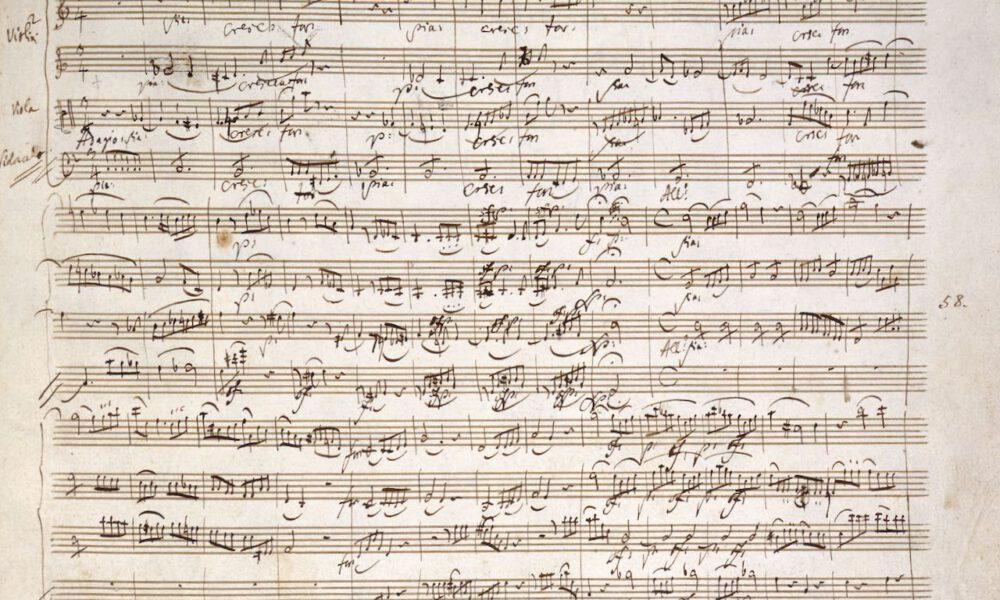 Handschrift Eines Mozart-Streichquartetts