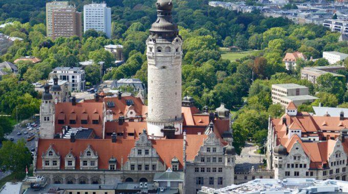 Neues Rathaus Leipzig, Blick Vom Uniriesen