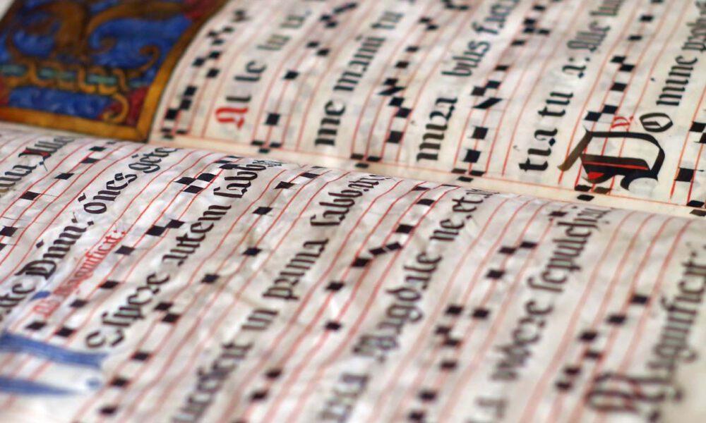 Mittelalterliche Notenhandschrift