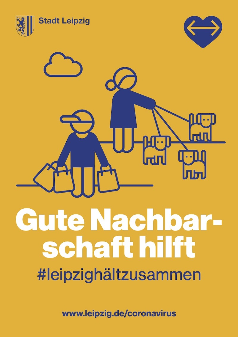 Plakataktion der Stadt Leipzig: Gute Nachbarschaft hilft