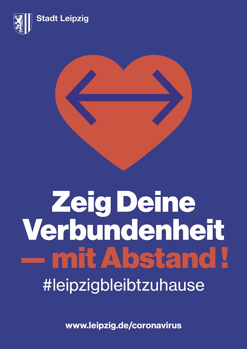 Plakataktion der Stadt Leipzig: Zeig Deine Verbundenheit mit Abstand