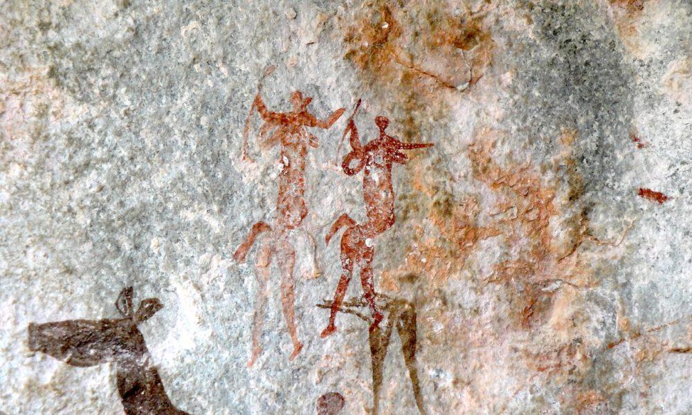 Steinzeitliche Felsenmalereien