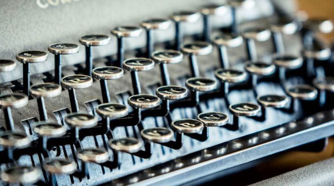 Tastatur Einer Schreibmaschine Der Marke